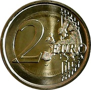 2 euros Union de Thrace avec la Grèce – revers
