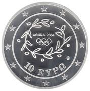 10 euros JO 2004 Football – avers
