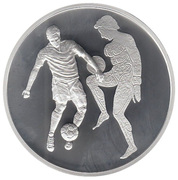 10 euros JO 2004 Football – revers