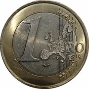 1 euro (1ère carte) – revers