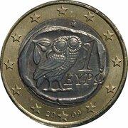 1 euro (2e carte) – avers