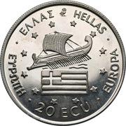 20 ECU / Greek Pattern – avers
