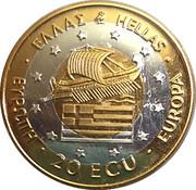 20 ECU / Greek - Alexander the Great – avers