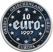 10 Euro (500 Drachmes) – avers