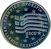 1 ECU (Hellenic Presidensy) – avers