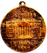 Opening of the Zappeion in 1888 for the 1st Olympic Games in Athens – avers