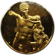 Médailles Grèce Hermes et Dionysos enfant – avers