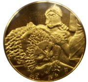 Médailles Grèce La Gigantomachie – avers