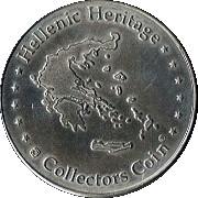 Hellenic Heritage Collectors Coin - Rhodes (Mandraki) – revers