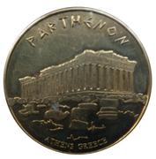 Jetons Hellenic Heritage Athènes, le Parthénon – avers