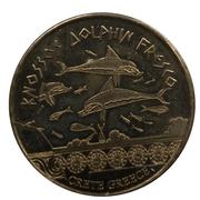 Jetons Hellenic Heritage Crète, Knossos, la fresque des dauphins. – avers