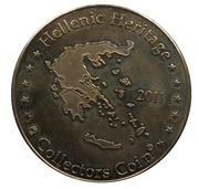 Jetons Hellenic Heritage Crète, Knossos, la fresque des dauphins. – revers