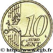 10 cents d'euro (2e carte) – revers