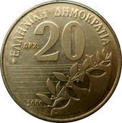 20 drachmes (République - Solomos) -  revers