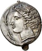 Tetradrachm (Uncertain Punic mint; Lilybaion or Entella) – avers