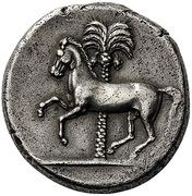 Tetradrachm (Punic military mint) – revers