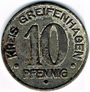10 pfennig - Greifenhagen – avers