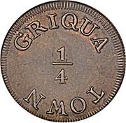 ¼ 'Penny' (Griqua Town) – revers