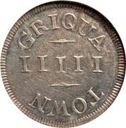 5 'Pence' (Griqua Town) – revers
