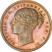 1 penny - Victoria (Griqua town, essai) – avers