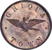 1 penny - Victoria (Griqua town, essai) – revers