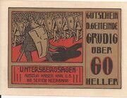 60 Heller (Grödig) – avers
