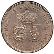 1 krone - Frederik IX – avers