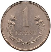 1 krone - Frederik IX – revers