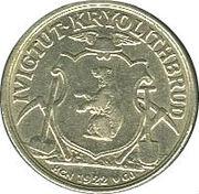 10 øre (Compagnie d'exploitation de cryolithe d'Ivigtut) – avers