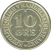 10 øre (Compagnie d'exploitation de cryolithe d'Ivigtut) – revers