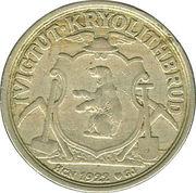 2 kroner (Compagnie d'exploitation de cryolithe d'Ivigtut) – avers