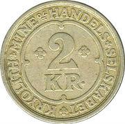 2 kroner (Compagnie d'exploitation de cryolithe d'Ivigtut) – revers