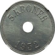 5 Kroner (Thule-Kap York) – revers
