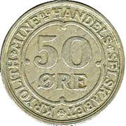 50 øre (Compagnie d'exploitation de cryolithe d'Ivigtut) – revers