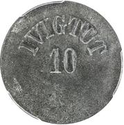 10 Øre (Ivigtut Cryolite Mining) – avers