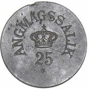 25 Øre (Royal Greenland Trade Company) – avers
