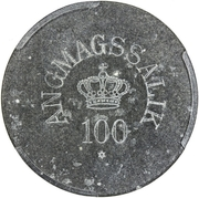 100 Øre (Royal Greenland Trade Company) – avers