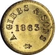 1 Skilling (A. Gibbs & Sons) – revers