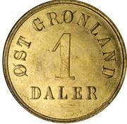 1 Daler (A. Gibbs & Sons) – avers