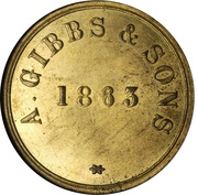 1 Daler (A. Gibbs & Sons) – revers
