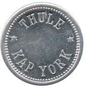 5 Øre (Thule-Kap York; without center hole) – avers