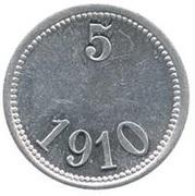 5 Øre (Thule-Kap York; without center hole) – revers