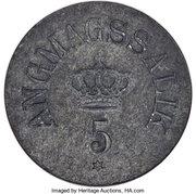 5 Øre (Royal Greenland Trade Company) – avers