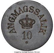 10 Øre (Royal Greenland Trade Company) – avers