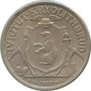 10 kroner (Compagnie d'exploitation de cryolithe d'Ivigtut) – avers