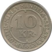 10 kroner (Compagnie d'exploitation de cryolithe d'Ivigtut) – revers