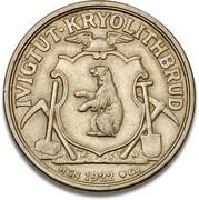 10 kroner (Ivigtut Cryolite Mining, essai uniface) – avers