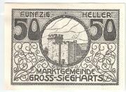 50 Heller (Gross-Siegharts) – avers