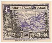 50 Heller (Grossarl) – avers
