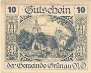 10 Heller (Grünau) -  avers